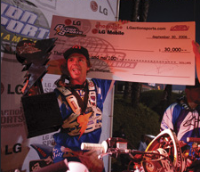 fmx podium with check