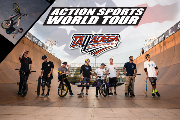 Action Sports World Tour coming to Talladega Superspeedway    See the world's best BMX & Skateboarders compete in a battle between nations Oct 18&19