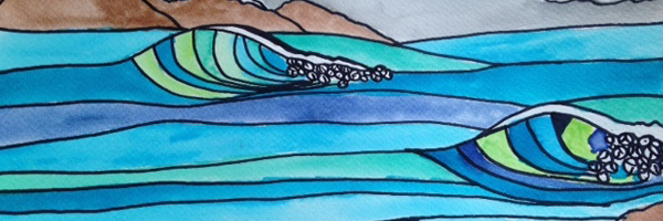 wave drawing