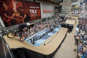 "June 16, 2011: ""Air In The Square"" BMX and skateboard event in Times Square."